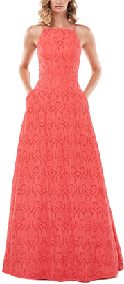 Kay Unger Katie Eyelet Gown