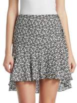 A.L.C. Farrow Floral Hi-Lo Mini Skirt