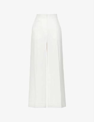 Sportmax Clarion wide-leg high-rise linen-blend trousers