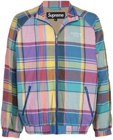 Supreme madras track jacket