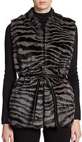 Lafayette 148 New York Rabbit Fur Vest
