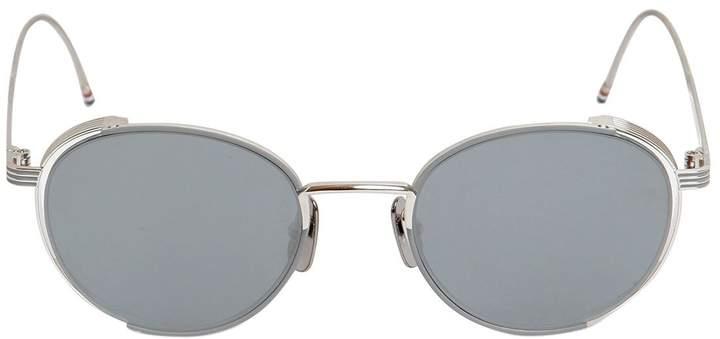 Thom Browne Round Mirrored Sunglasses