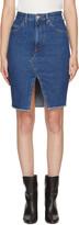 Etoile Isabel Marant Navy Denim Chadow Skirt