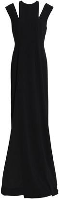Halston Split-front Cutout Crepe Gown