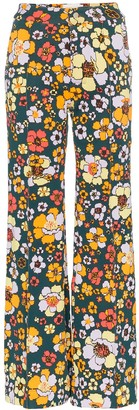 Cap Penelope floral knitted trousers