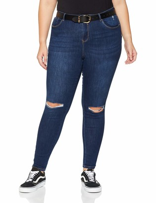 Simply Be Women's Chloe Ripped Knee Skinny Jeans