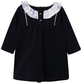 Chloé Kids Contrast Collar Ruffled Dress (6-36 Months)