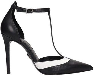 Michael Kors Renata Pump Sandals In Black Leather
