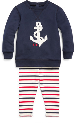 Ralph Lauren Nautical Top & Legging Set