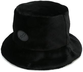 we11done Faux Fur Bucket Hat