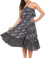ACEVOG Women's Summer Sexy Prom Party Tunic Long Beach Dress