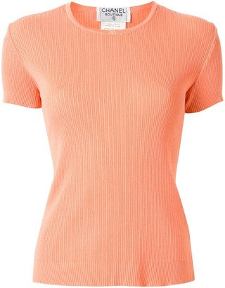 Chanel Pre Owned 1997 ribbed knitted T-shirt