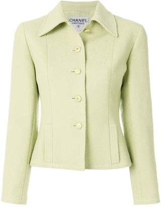 Chanel Pre-Owned fitted tweed jacket