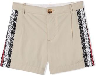 Burberry monogram stripe shorts