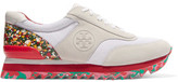 Tory Burch Paneled Mesh And Suede Sneakers