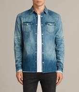 AllSaints Ikeoa Denim Shirt