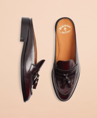 Brooks Brothers Leather Tassel Loafer Mules
