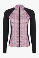 Select Fashion Fashion Womens Black Active Zip Through Raglan Swea - size 6