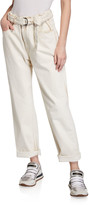 Brunello Cucinelli Hand-painted Belted Jeans