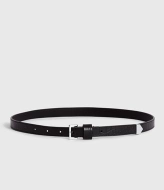AllSaints Pipi Crocodile Leather Belt