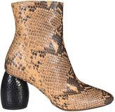 Dries Van Noten Mirrored Heel Ankle Snake Boots