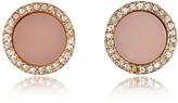 Michael Kors Heritage Rose Gold Stud Earrings w/Crystals