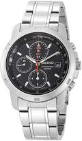 Seiko Men's Stainless Steel Chronograph Dial Watch Black SNDB03
