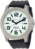 Momentum Men's 1M-Sp08L1B Cobalt Lite Black Ribbed Rubber Watch