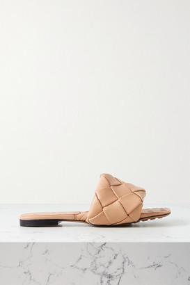Bottega Veneta Intrecciato Leather Slides - Sand
