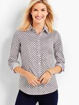 Talbots The Perfect Long-Sleeve Shirt - Geo Foulard