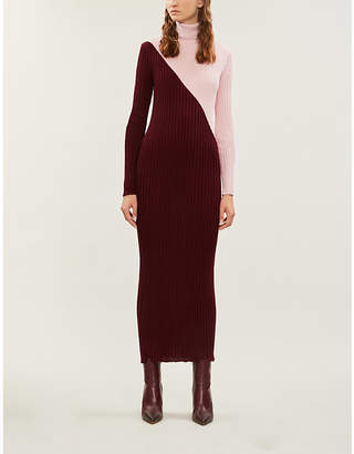 Gabriela Hearst Nazim colour-blocked cashmere and silk-blend maxi dress