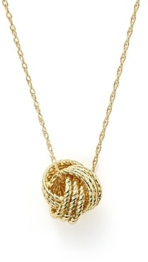 Bloomingdale's 14K Yellow Gold Love Knot Necklace, 18 - 100% Exclusive