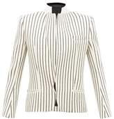 Haider Ackermann Velvet-collar Striped-jacquard Wool Blazer - Womens - Cream Multi