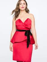 Red Peplum Dress