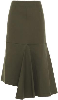 Marni Asymmetric Cotton-blend Jersey Midi Skirt