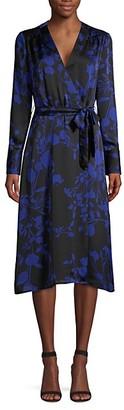 Equipment Cherylene Floral Wrap Dress