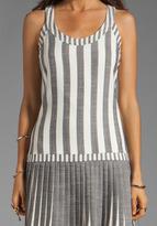 Milly Fabulous Italian Stretch Stripes and Mini Stripes Sarey Pleat Dress