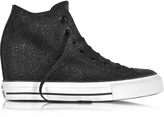 Converse Limited Edition All Star Mid Lux Sting Ray Metallic Leather Wedge Sneakers