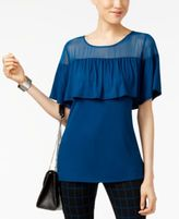 Alfani Illusion Flounce Top, Only at Macy's