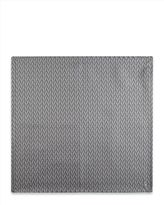 Jaeger Silk Straw Print Pocket Square