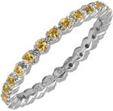 Simply Stacks Sterling Prong-Set Citrine Stackable Ring