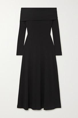 Rosetta Getty Off-the-shoulder Cotton-jersey Dress - Black