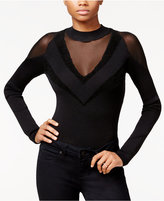 Rachel Roy Mixed Media Bodysuit, Only at Macy's