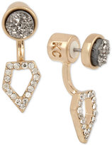 Kenneth Cole New York Gold-Tone Druzy Stud and Pave Earring Jackets