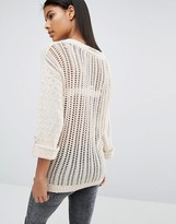 Vila Ladder Knit Back Detail Sweater