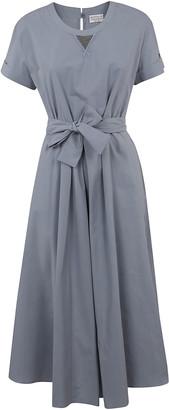 Brunello Cucinelli Belted-waist Flared Dress