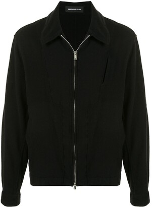 Undercover Point Collar Flannel Bomber Jacket