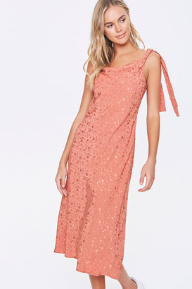 Forever 21 Floral Cowl Neck Midi Dress