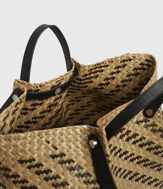 AllSaints Allington East West Straw Tote Bag
