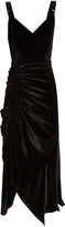 Preen by Thornton Bregazzi Joan ruched stretch-velvet midi dress